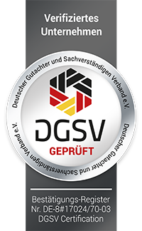 Siegel DGSV Firmen Prüfung Totzauer services aus Düsseldorf