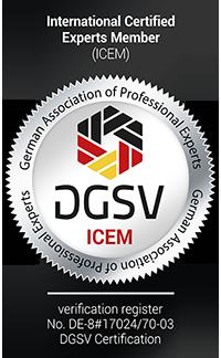 Siegel DGSV ICEM Firmen Prüfung Totzauer services aus Düsseldorf